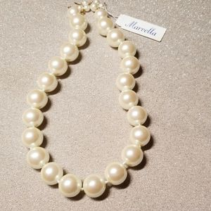 Vintage Marvella Pearl Necklace w/tags
